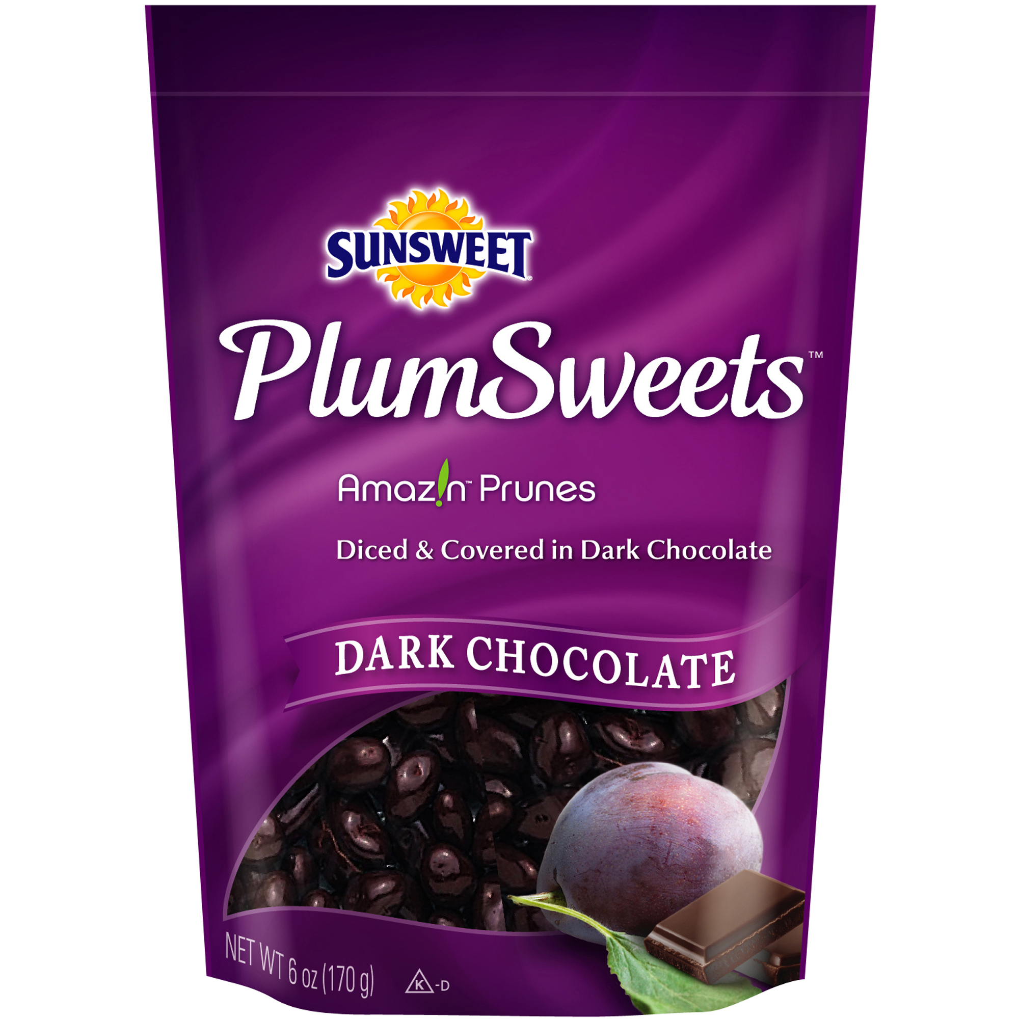 Sunsweet Dark Chocolate Covered Plumsweet Bites, 6 oz
