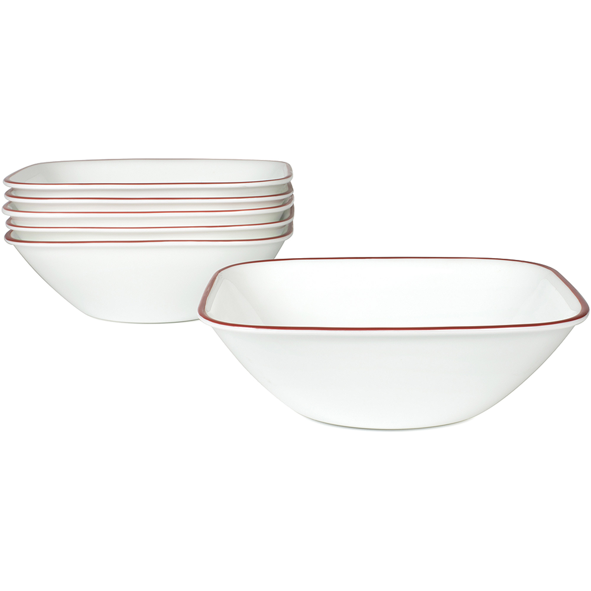 Corelle Square Splendor 22-oz Soup Bowl, Set of 6