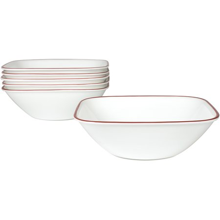 Corelle Square Splendor 22-oz Soup Bowl, Set of 6 (4 Rimmed Soup Bowls)