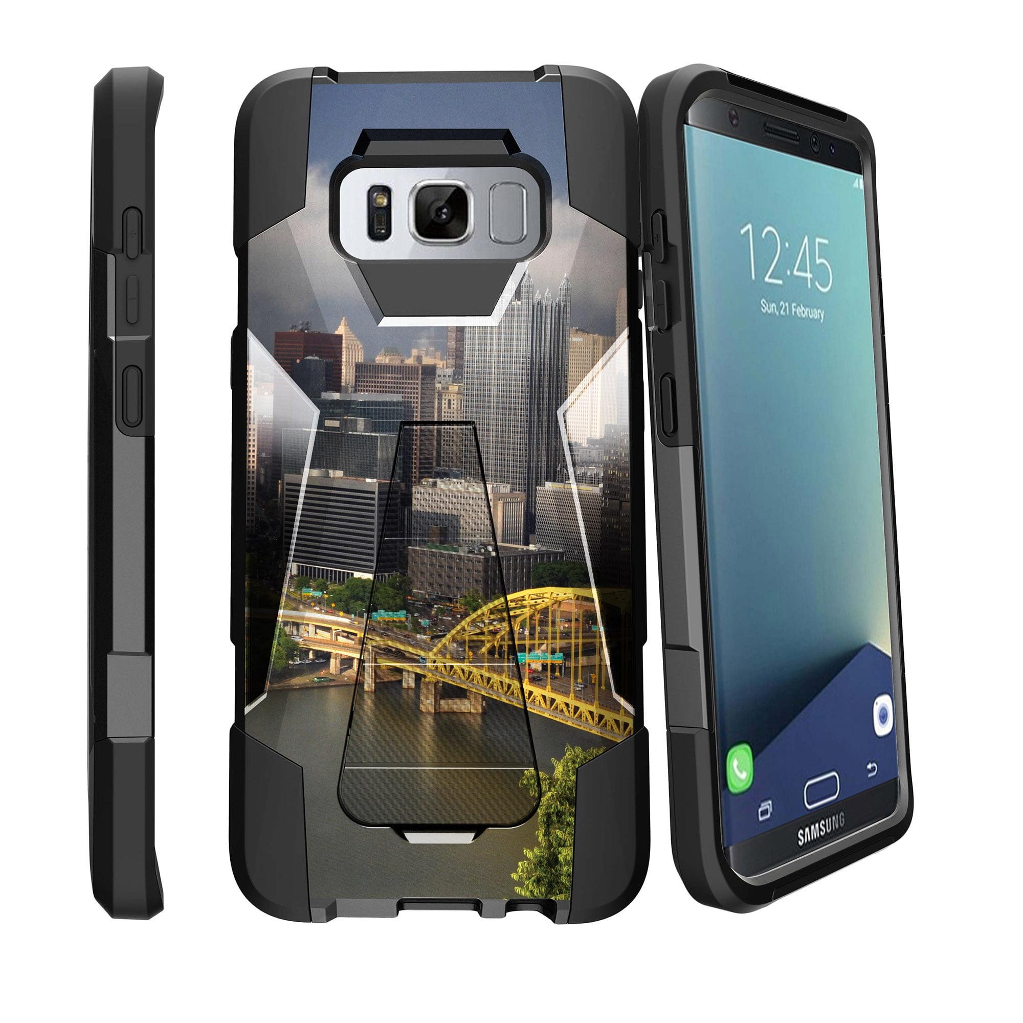 Case for Samsung Galaxy S8 PLUS version | S8 PLUS version Hybrid Case [ Shock Fusion ] Hybrid Layers and Kickstand Case City Travel Series