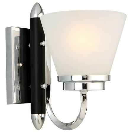 Design House 516963 Paramount 1 Light Wall Light, Polished - Polished Chrome Wall Supply