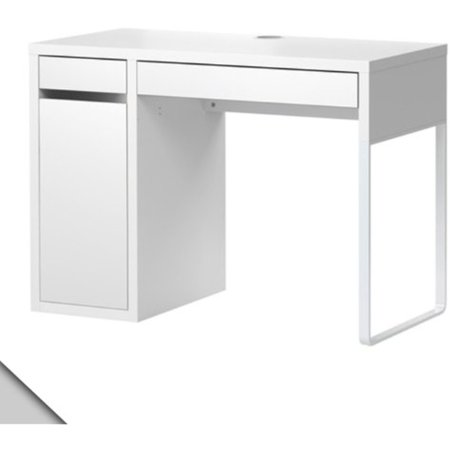 Ikea Micke Desk White w/ Shelf Inside, - Cheap Fancy Dress Ideas Make Your Own
