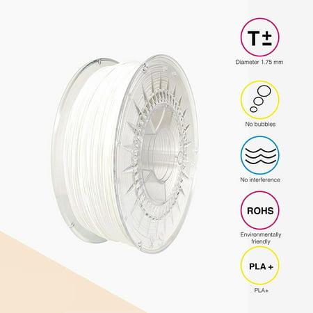 EOLAS PRINTS PLA+ 3D Printer Filament 1.75mm 1 kg Spool, (Opaque White Filament Reinforced)