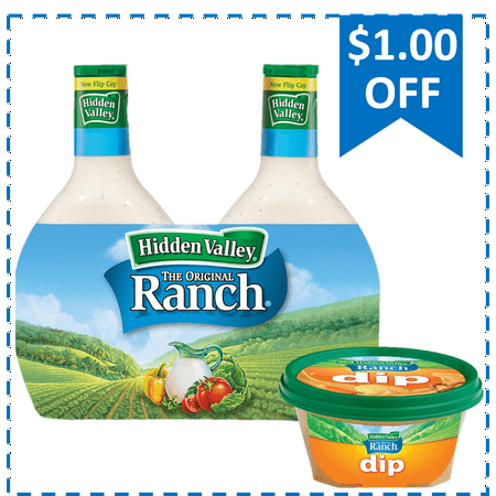Buy and Save: Hidden Valley Ranch 24 oz Twin Pack & NEW HVR Buffalo Ranch