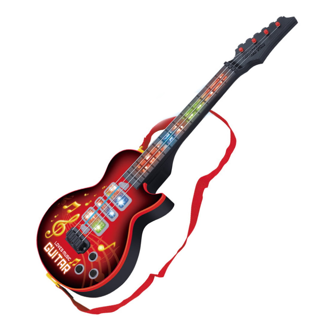 Children Electric Guitar 4 Strings Kids Musical Instruments Red by Unbrand