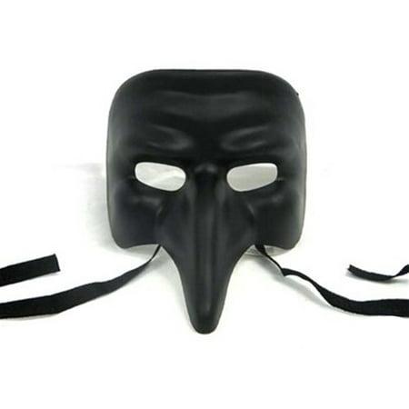 Venetian Nose Black Mask](Black Ranger Mask)