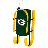Green Bay Packers Official NFL  Sled Christmas Ornament by Forever Collectibles