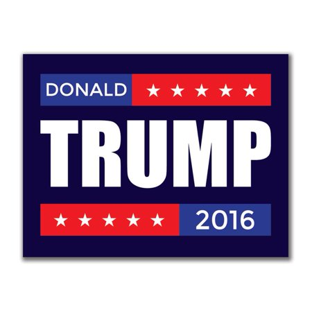 Election 2016 Donald Trump Stacked 3x4in. Rectangular