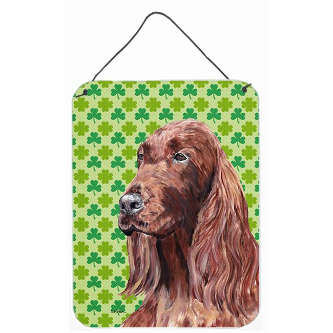Carolines Treasures SC9566DS1216 8 x 12 in. Irish Setter St Patricks Irish Aluminium Metal Wall or Door Hanging Print - image 1 de 1