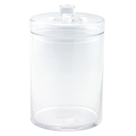 Diamond Star Glass Apothecary Clear Jar with Lid - 8 diam.