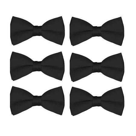 Boy's Bow Tie Wholesale 6 Pack Wedding Ties Pre-Tied Formal Tuxedo - Gray And Purple Wedding