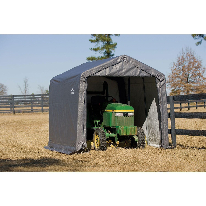ShleterLogic 10' x 10' Storage Shed with Anchor Kit - Gray