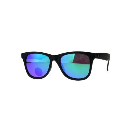 Polarized Premium Kush Color Mirror Horn Rim Hipster Gangster Sunglasses Teal - Teal Sunglasses