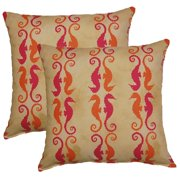 FHT Side by Side Mimosa 17-in Throw Pillows (Set of 2)