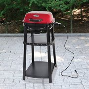 Uniflame Portable Electric Grill With Stand Red Sedona
