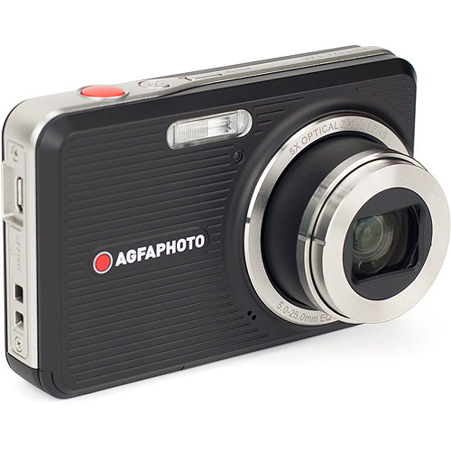 """AgfaPhoto Optima 145 14.1MP Digital Camera with 5X Optical Zoom, 2.7"""" Auto Brightness LCD Display and Bundled ArcSoft MediaImpressions 3D Software, in Black"""