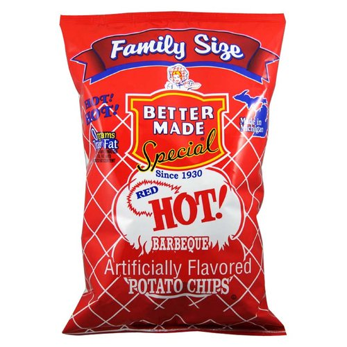 Better Made Family Size Red Hot BBQ Potato Chips, 9.5 Oz.