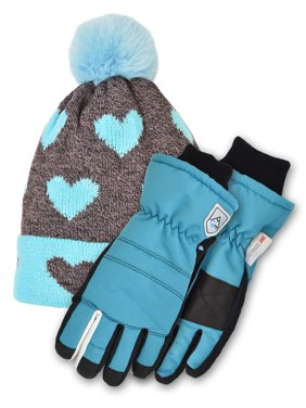 Cold Front Accessories The Kelsey Cuff Hat and the Patricia Sports Ski Glove Bundle