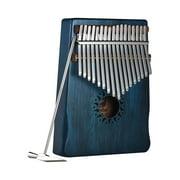 17-Key Portable Kalimba Mbira Thumb Piano Mahogany Solid Wood Musical Instrument Gift for Music Lovers Beginner Students