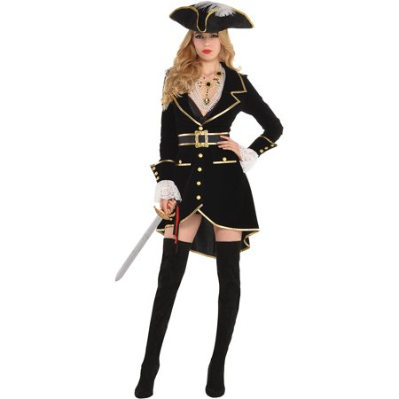 Suit Yourself Treasure Vixen Pirate Costume for Adults, Includes a Dress, a Hat, a Necklace, and a (Pharaoh's Treasure Costumes)