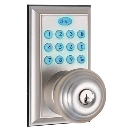 Clevr Electronic Keypad Keyless Entry Door Lock Nickel Ansi