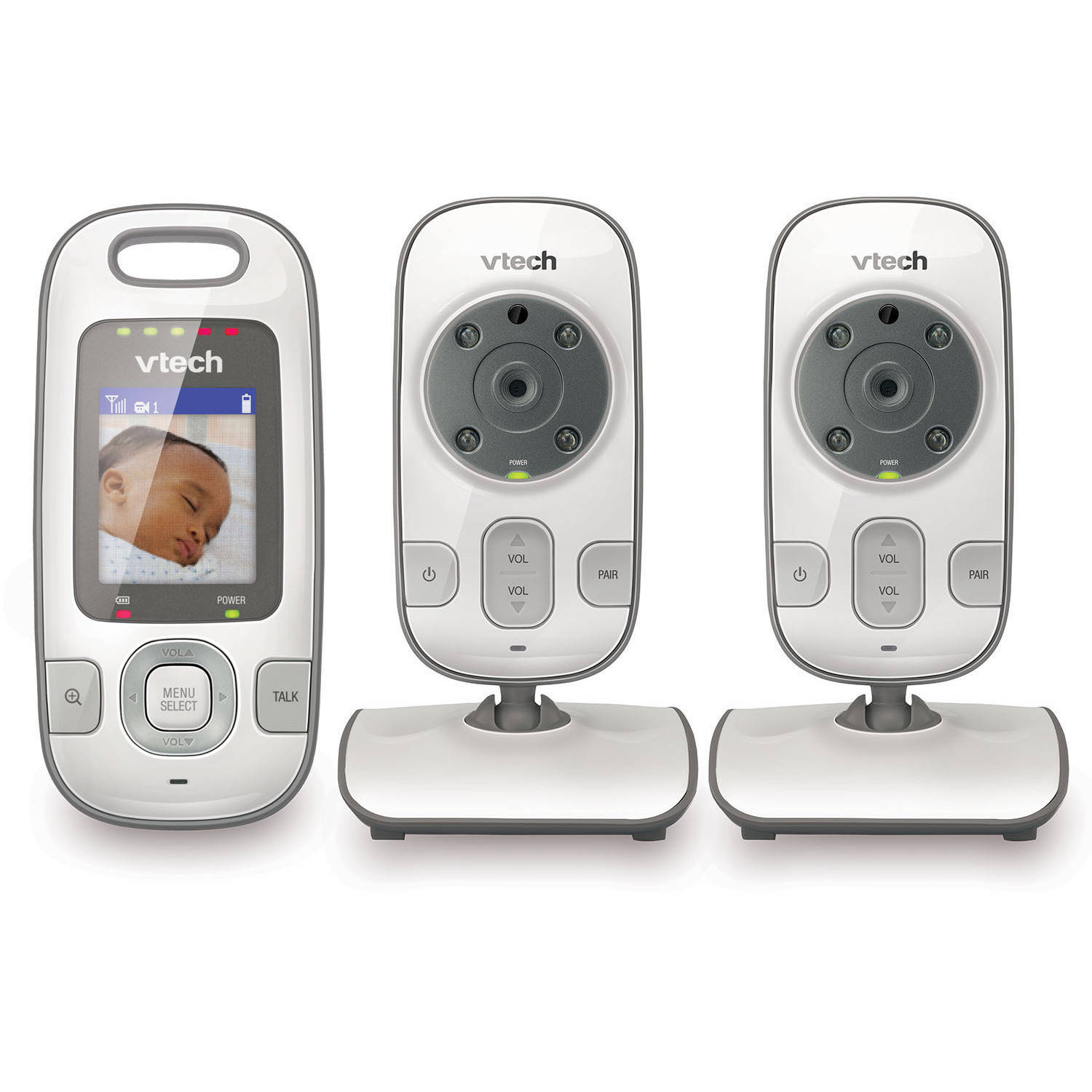 VTech VM312-2, Video Baby Monitor, IR Night Vision, 2 Cameras