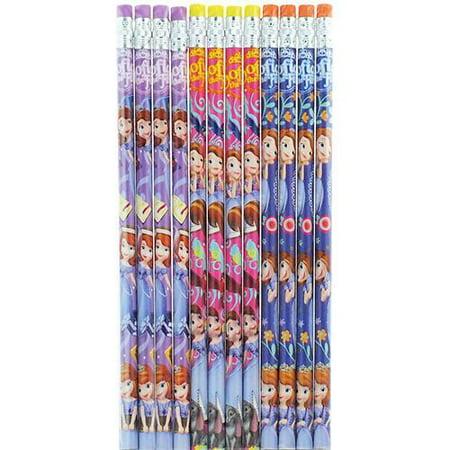 Princess Sofia Character 12 Wood Pencils Pack (Sophia Pinsel)