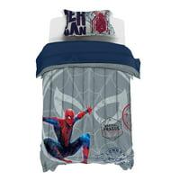 Spiderman Student Visa Twin Duvet Cover & Sham Set