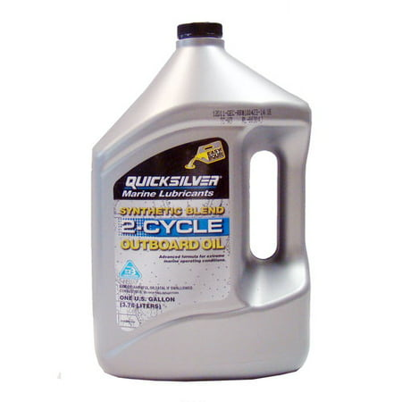 (3 Pack) Mercury Quicksilver Synthetic Blend 2-Cycle Outboard Oil 2 Cycle Outboard Motor