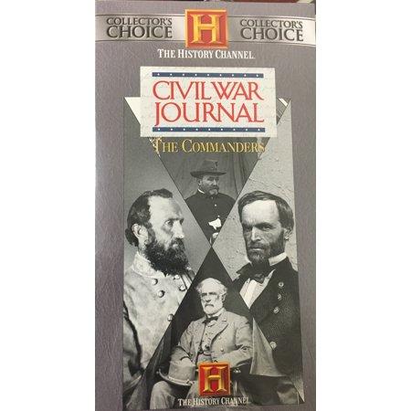 Civil War Journal - The Commanders ~ Set of 4 VHS - Halloween Vhs Box Set