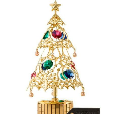 Matashi Crystal Christmas Tree Wind-Up Deck the Halls Decorative Music Box - Walmart.com