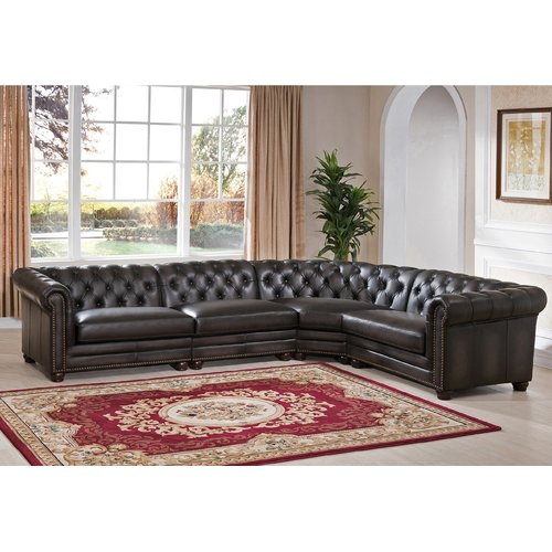 Darby Home Co Altura Leather Modular Sectional