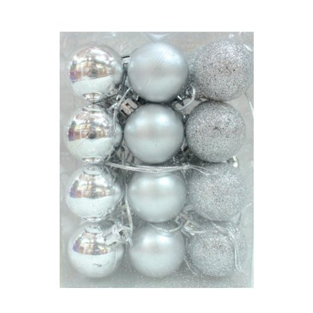 AngelCity 24Pcs Christmas Party Wedding Balls Baubles Decorations Tree Xmas Ornaments ()