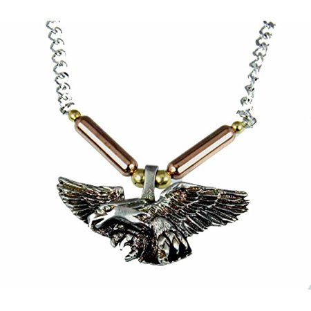 Eagle Pendant Necklace US American Patriotic USA Bald Military