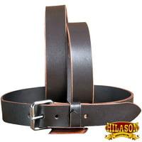 Leather Gun Holster Belt 1.5 Concealed Carry Heavyduty Work Belt Hilason