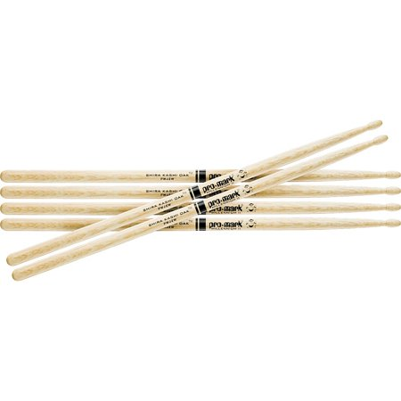 - Promark 3-Pair Japanese White Oak Drumsticks Wood 5A