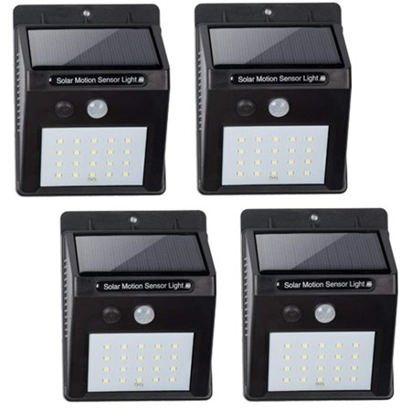 BN-Link Outdoor Solar Powered Light, Motion Sensor Infrared, 20 LED (450 Lumen), Wireless Waterproof Heatproof Security Wall Light, Auto On/Off (4 (Solar Powered Security Light With Motion Sensor Reviews)