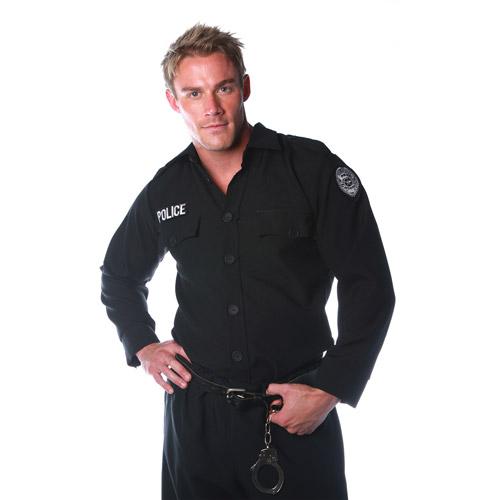 Police Shirt Men's Adult Halloween Costume