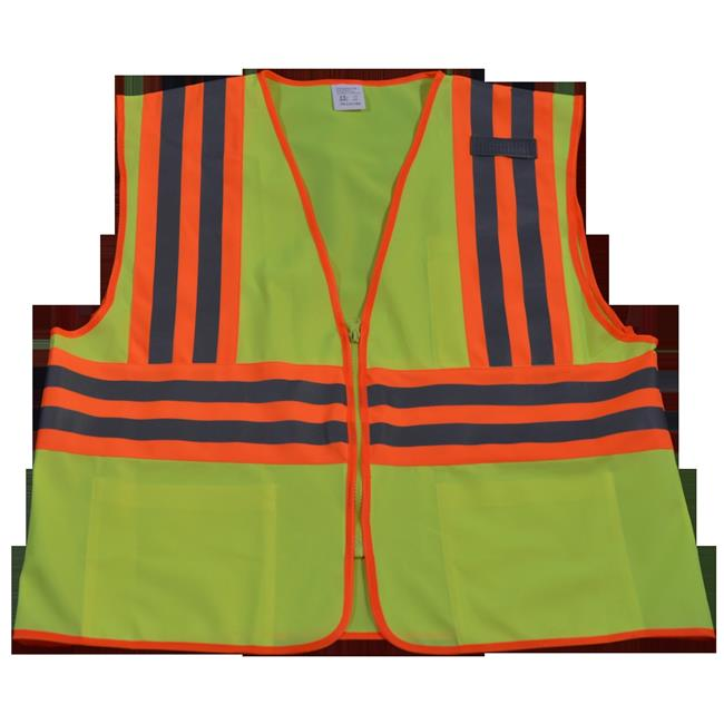 LV2-CB2-S-M Safety Vest Ansi Class Ii Lime Solid Contrast Binding 2, Small & Medium