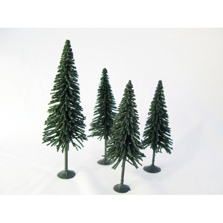 Architectural Model Supply - Wee Scapes Architectural Model Pine Trees 4-Pack