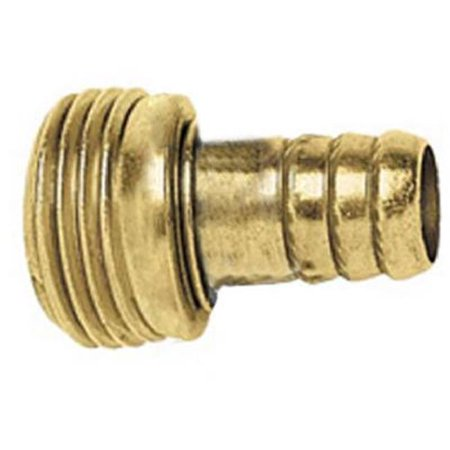Image of 0.5 in. Green Thumb Hose Stem Replacement Male Connector, Brass