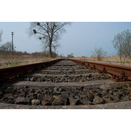 LAMINATED POSTER Railway Railroad Tracks Sleepers Poster Print 24 x (Peterbilt 379 36 Inch Sleeper For Sale)