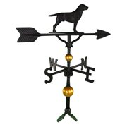 Deluxe Black Lab Weathervane - 32 in.