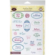 "Justrite Papercraft CR05053 JustRite Papercraft Clear Stamps 6""X8"" - Small Oval Wishes"