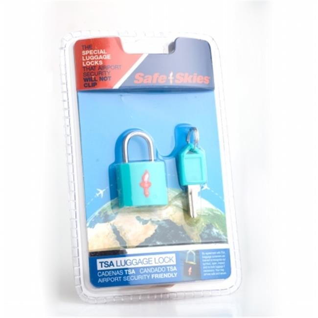 Safe Skies No. 201b TSA-Approved padlock single-pack - Aqua Blue