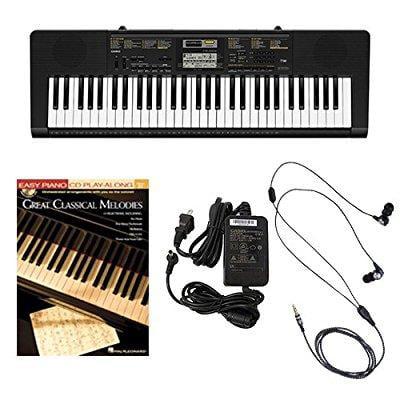 Casio CTK2400 61-Key Keyboard Deluxe Package with Casio Keyboard Adapter, Ear Buds & Great... by Casio