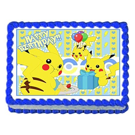 1 4 Sheet Pikachu Pokemon Party Edible Frosting Cake Topper