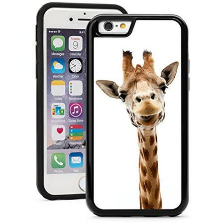Black Giraffe Skin (Apple iPhone Shockproof Impact Hard Soft Case Cover Close Up Funny Giraffe (Black for iPhone)