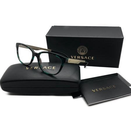 Versace Eyeglasses VE MOD 3240 5076 Green Havana 52 16 140 demo Lens (52 16 140 Brille)