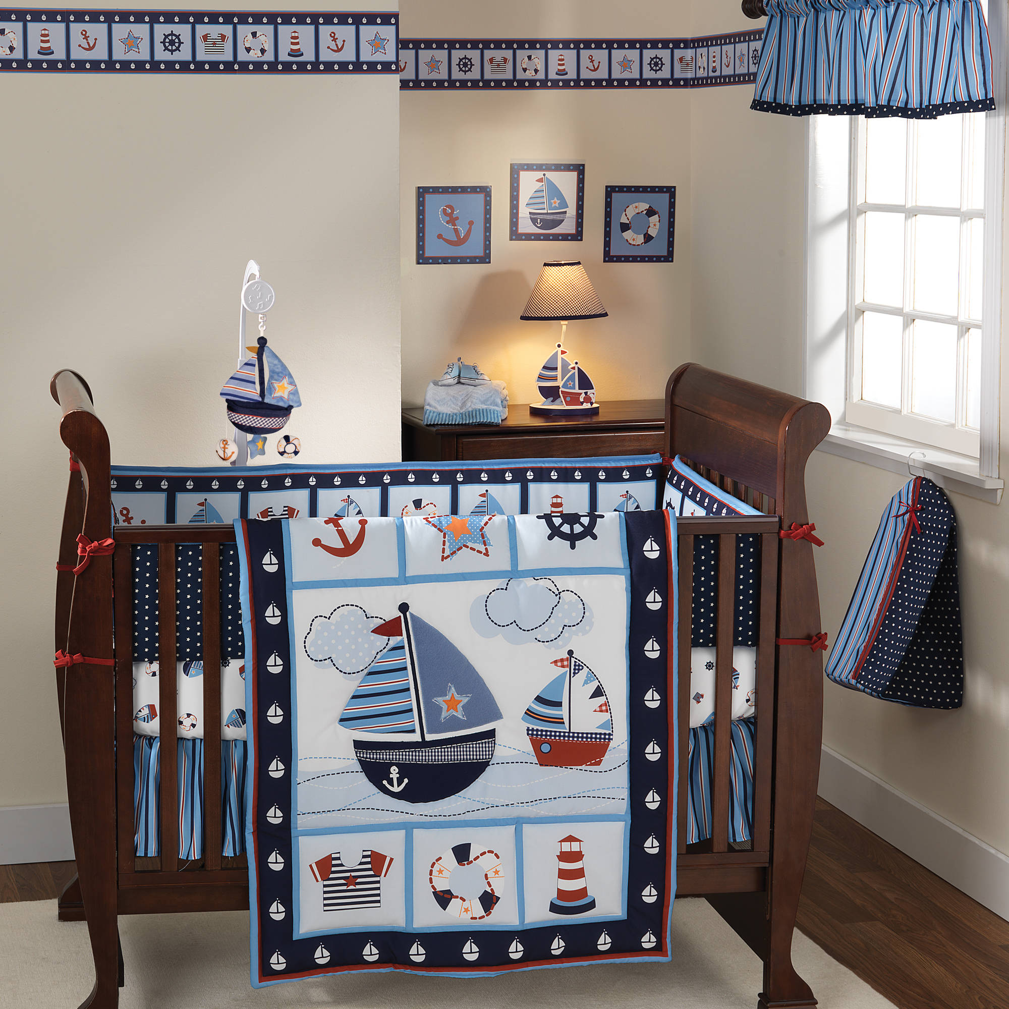 Bedtime Originals by Lambs & Ivy - Sail Away 3-Piece Crib Bedding Set
